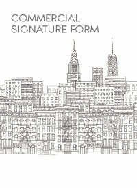 Commercial Signature Form
